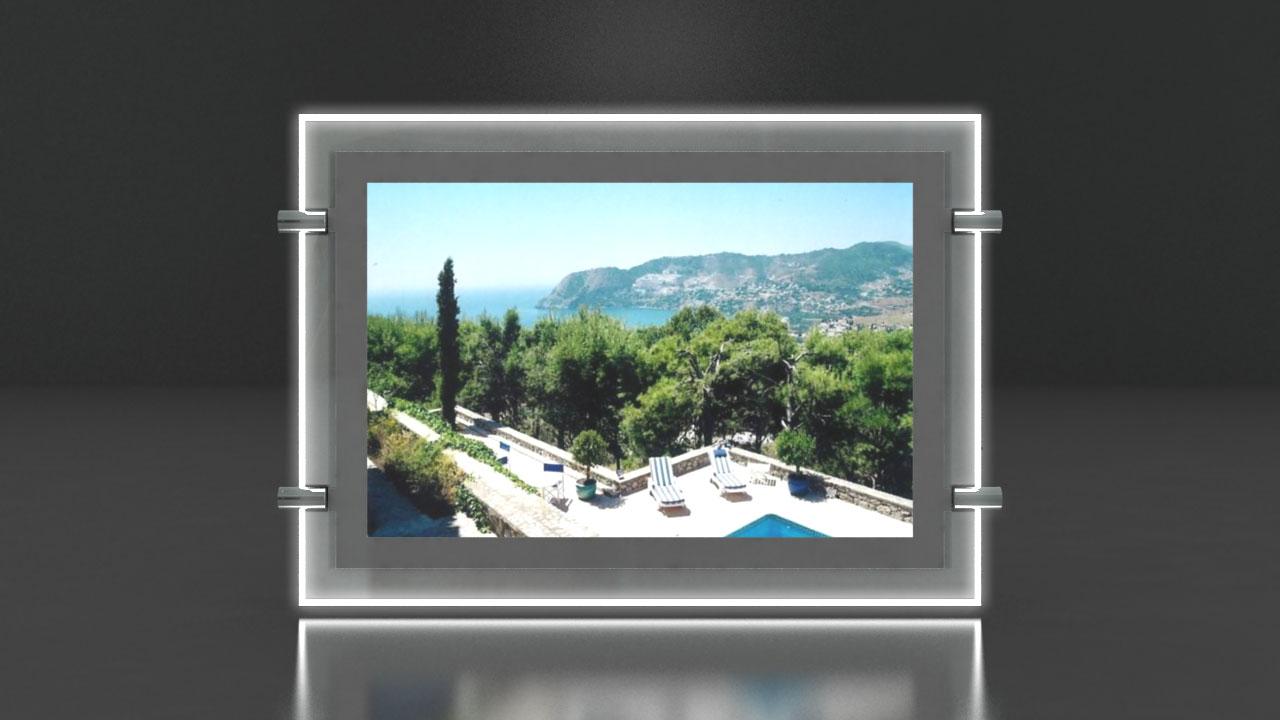 Porte Affiche Led - Portes Affiche LED agence immobilière