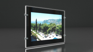 VITRINE LUMINEUSE POUR IMMOBILIER