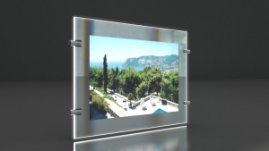 Portes affiches LED pour l'agencement des vitrines