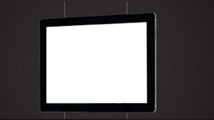 porte affiche led pour vitrine agence immobilière