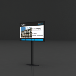 Affichage vitrine non lumineux pour agence immobiliere