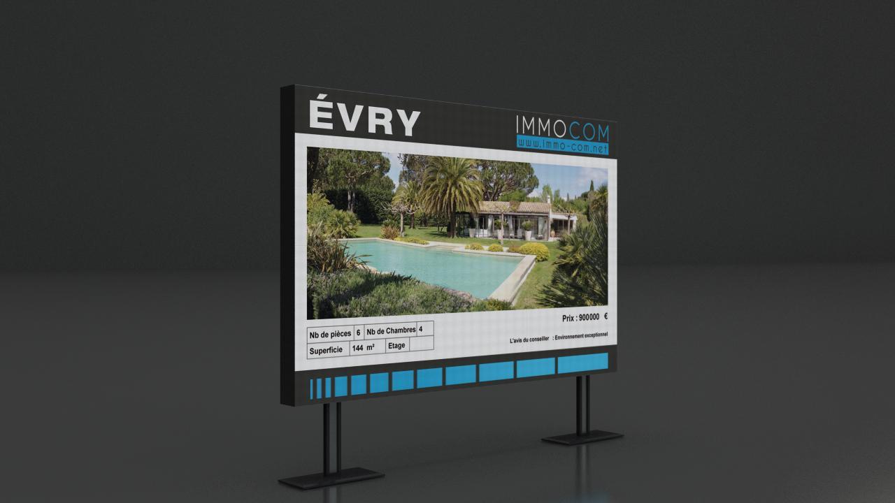 Écran publicitaire à LED
