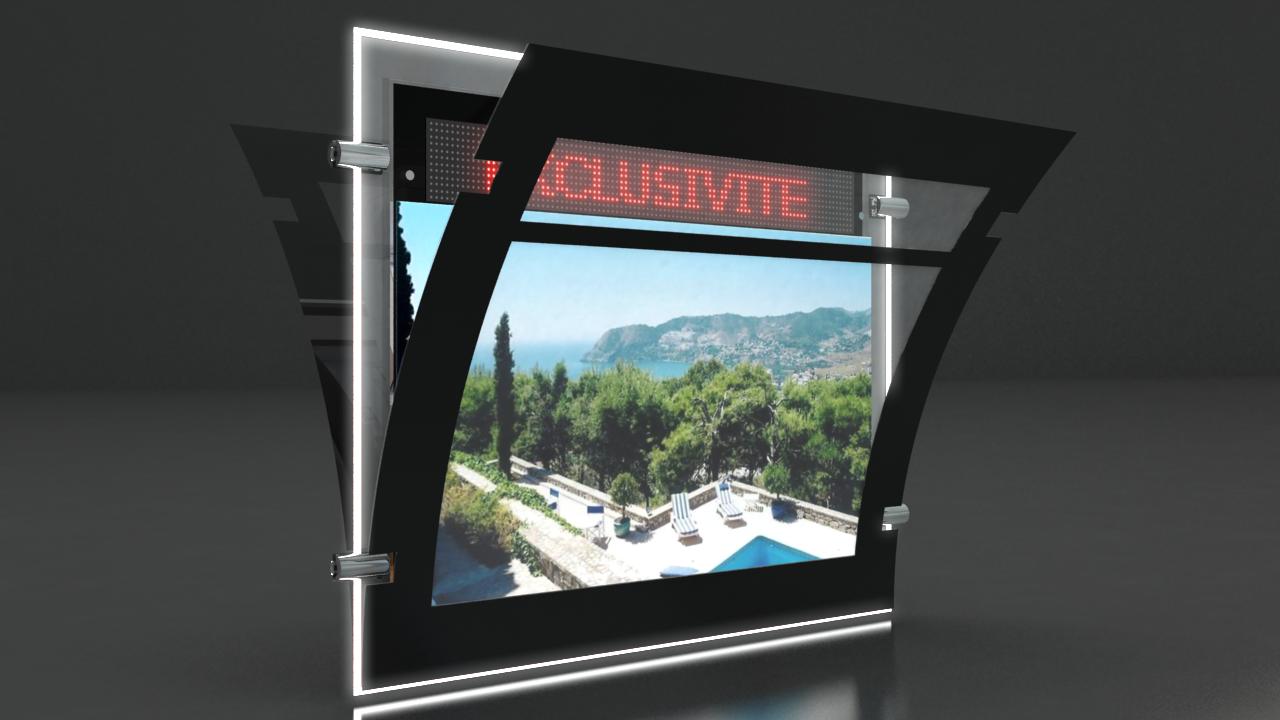 Porte affiche lumineux led » recto/verso de fabrication Française.