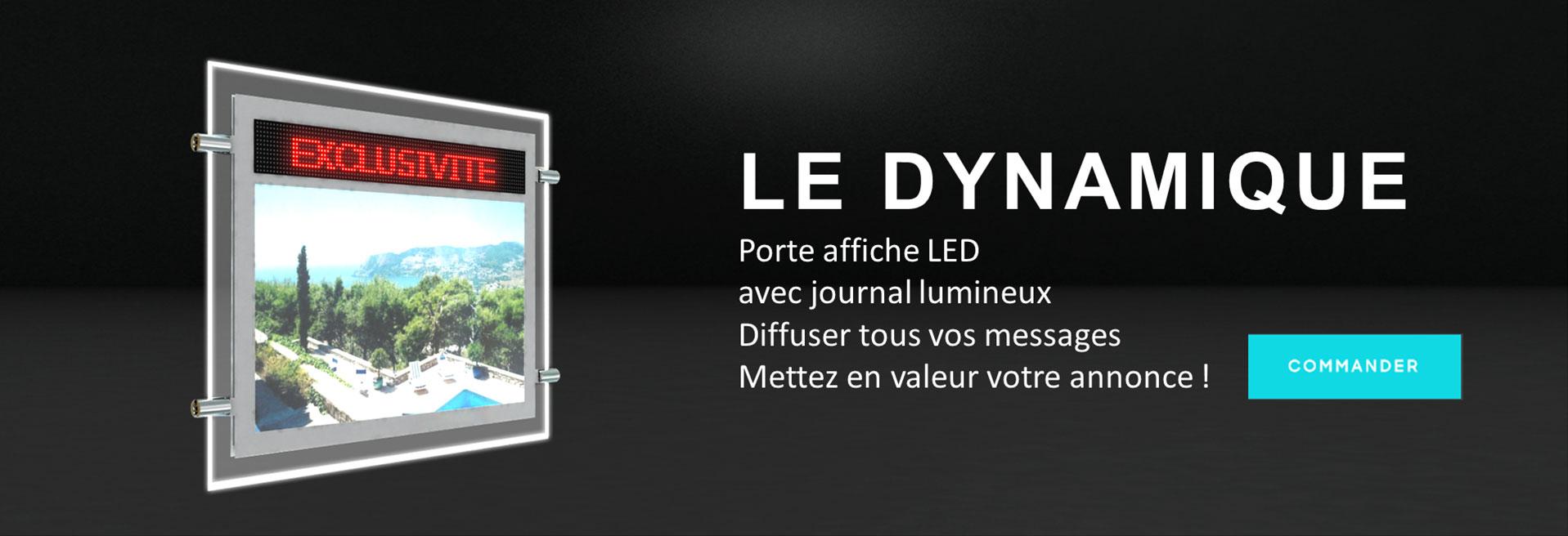 Solution de porte-affiche LED