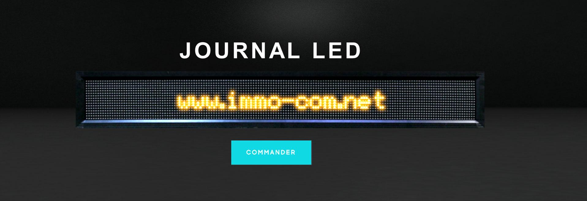 Journal lumineux multicouleur alphanumérique