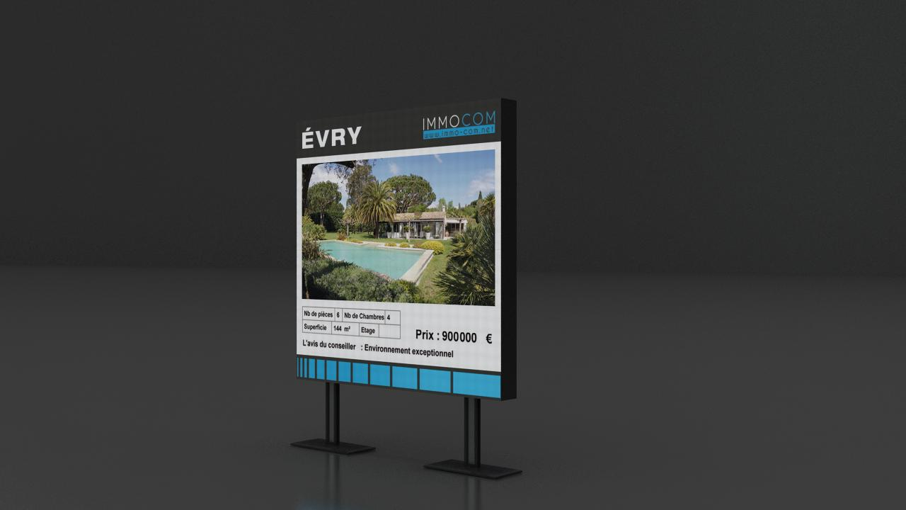 Ecran BIANCO – PITCH 4 porte affiche publicitaire