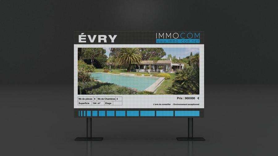 porte affiche LED double face aux formats adaptés à vos communication pour vos agences bancaires.